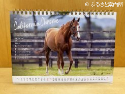カレンダーの種牡馬写真面