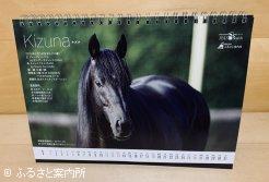 カレンダーの種牡馬写真面です。