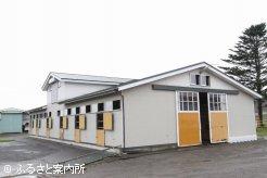 村上雅規牧場の厩舎