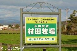 村田牧場の看板