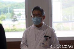 謝辞を述べる浦河赤十字病院大柏秀樹院長