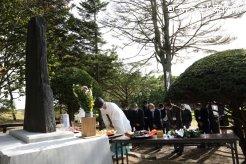 門別軽種馬生産振興会の伝統行事の馬魂慰霊祭
